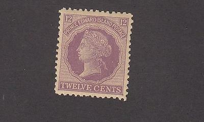 PRINCE EDWARD ISLAND # 16 VF-MLH 12cts QUEEN VICTORIA VIOLET