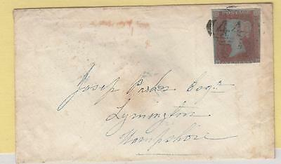Gb # 3 Impoerf Penny Red On Upper Parade Leaminton 1851 Cover