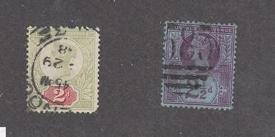 Gb Selection Of Queen Victoria Jubilees & Block Of 4 Mh Cat Value $167+