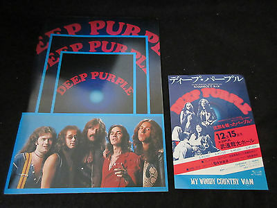 Deep Purple 1975 Japan Tour Book w Promo Flyer Tommy Bolin Whitesnake John Lord