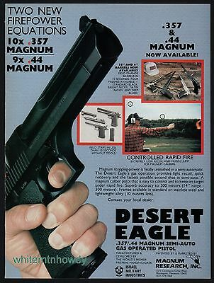 1987 DESERT EAGLE .357 or .44 Magnum Pistol AD Vintage Gun Handgun Advertising