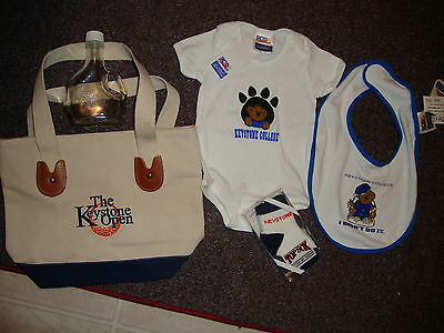 NWT NEW Keystone College Baby Lot bodysuit bib socks etc. 0-3-6 months