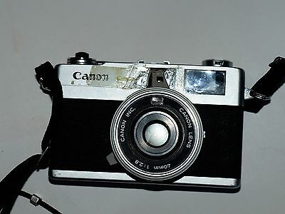 Canon Canonet 28 35mm film rangefinder camera. Works! See test photos!