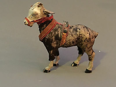 """Vintage 1900's Spotted Donkey with Harness Figurine (3 1/4"""" Lengthx 3 3/4"""" Tall)"""