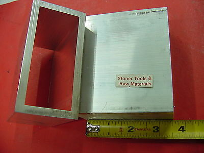 "10 Pieces 2"" x 4"" x 1/4"" Wall 6061 ALUMINUM RECTANGLE TUBE 3-1/2"" Long T6"