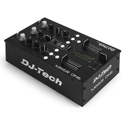 [Reconditionné] Dj-Tech Mixer One Dj Pa Usb Midi Table Mixage 2 Canaux Usb Mp3