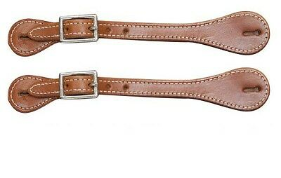 New Showman Basic Heavy Stitched Medium Oil Ladies Spur Straps New Western Tack