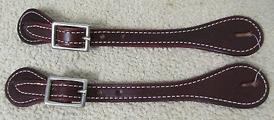 New Showman Basic Heavy Stitched Burgundy Ladies Spur Straps New Western Tack