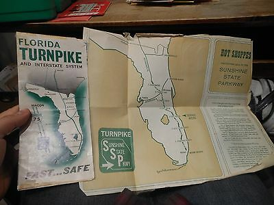 Florida Turnpike Highway Interstate Map Sunshine State Parkway Hot Shoppes Plaza