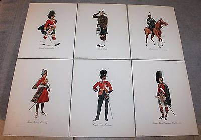 Vintage Dewar's White Label Regimental Prints First Edition Schenley Complete