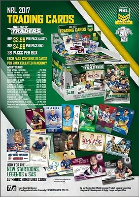 *PRE Sell**2017 NRL ESP Traders common set of 160 cards