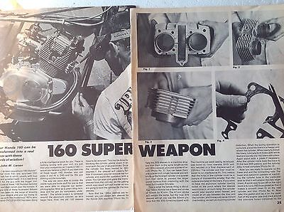 4 Pages Hop Up For 1968-9 Honda 160 Make It A 240 12 Photo Texts