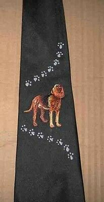 Mens Necktie BLOODHOUND Hand-Decorated Nice Quality CLEARANCE SALE
