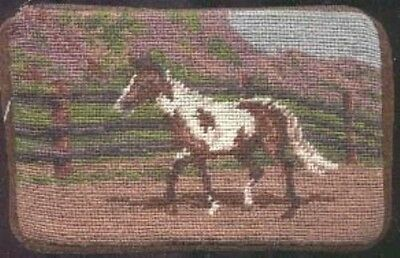NP PAINT HORSE Needlepoint Cosmetic Bag CLEARANCE SALE