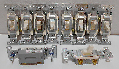 Lot of 10  Cooper Light COMMERCIAL Quiet Toggle Wall Light Switch 20A CS120LA