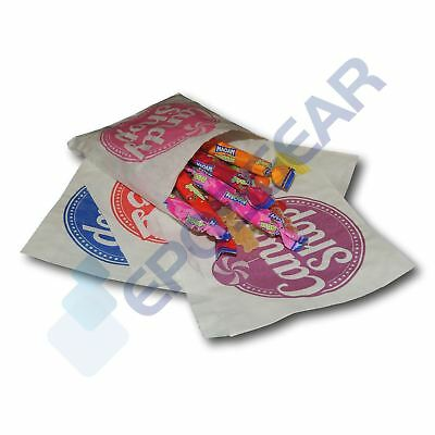 """5"""" x 5"""" Candy Shop Paper Bags Sweet Favour Buffet Gift Party Cart Cake Wedding"""