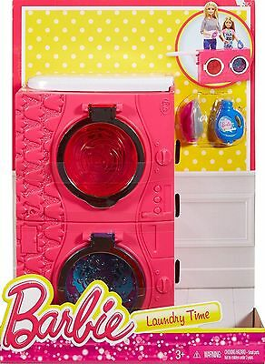 Barbie Large Story Starter Furniture - Laundry Time Playset - DXR92 - NEW