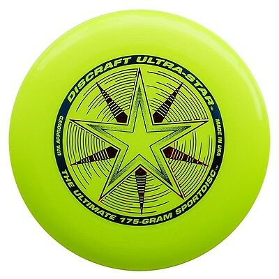 NG - Discraft Ultra Star Ultimate Frisbee Wurfscheibe 175g GELB