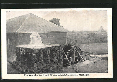 alte AK Grosse Ile, MI, The Wonder Well and Water Wheel