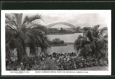 tolle AK Sydney, Harbour bridge from the Botanical Gardens