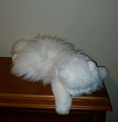"1987 Ty Classic Angel Cat Kitty Kitten Stuffed Animal White Fur Persian 16"" nice"
