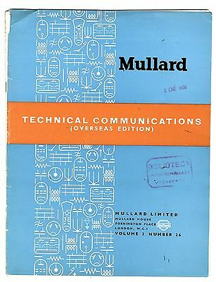 Mullard - Technical Comunications - Volume 3 - Number 26 - Octubre -  1957