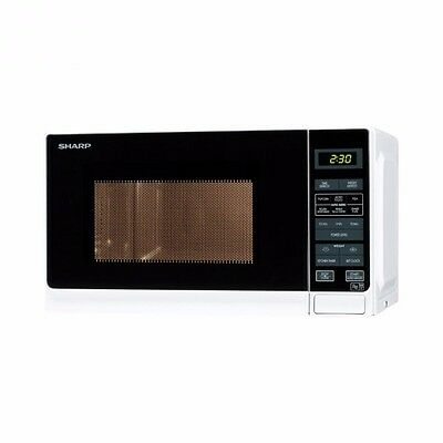 Sharp R272WM Solo 800W Microwave Oven with 20L Capacity - Seller Refurbished