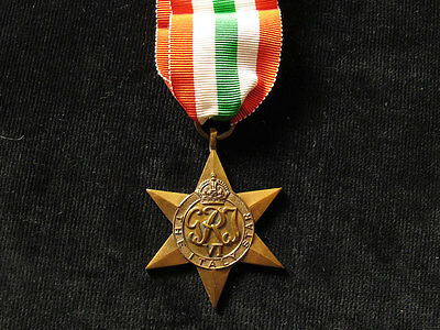 GB WWII Italy Star Medal Full-Size Original