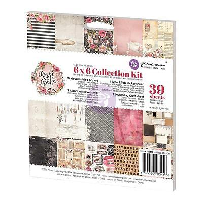 """Prima Marketing Rossi Belle 6""""x6"""" Double-Sided Collection Kit 39 sheets 585440"""