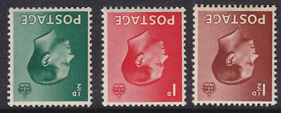 1936 KEVIII SET OF 3 SG457wi/459wi INVERTED WATERMARK UNMOUNTED MINT