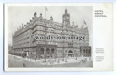 """tq0399 - London - An Early """"Hotel Great Central"""", Advertising Card - postcard"""