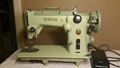 SINGER 319W HEAVY DUTY SEWING MACHINE MINT GREEN 1950s