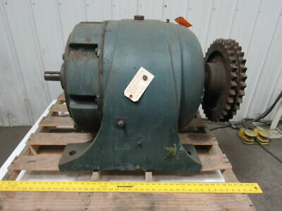 "Large In-Line Gear Box speed Reducer 240:1 Ratio 3-3/4"" Output 1-7/8"" Input"