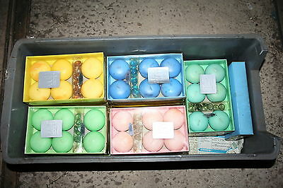 Wholesale job lot shop clearance Waxyfacts coloured floating candle gift set x17