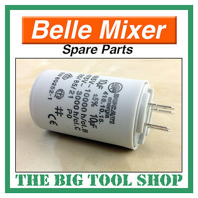 Belle 10Uf 240V Capacitor For Mini Mix 130 Mixer Motor, Spare Parts