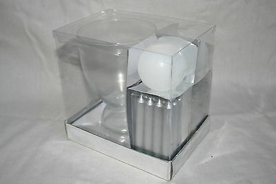 Wholesale job lot shop clearance Silver Hurricane Candle Gift Set  x14 LotB