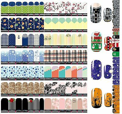 NAIL WRAPS STICKERS Full Self Adhesive Polish Foils Decoration nail stickers Hot