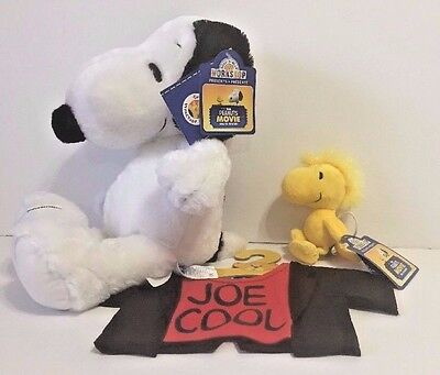 NEW Musical  Build A Bear Stuffed Peanuts Snoopy Joe Cool T Shirt With Woodstock
