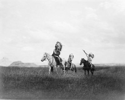 March of The Sioux, Edward S. Curtis 1905 8x10 Silver Halide Photo Print