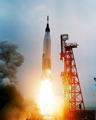 Mercury Aurora 7 Atlas Rocket Launch NASA 8x10 Silver Halide Photo Print