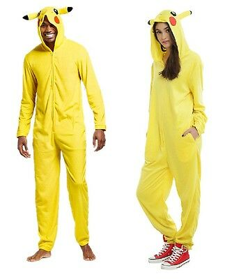 Adult size Unisex Pokemon Pikachu Union Suit - Onesie Costume Pajama Cozy fnt