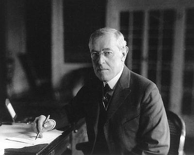 President Woodrow Wilson Seated Portrait 8x10 Silver Halide Photo Print