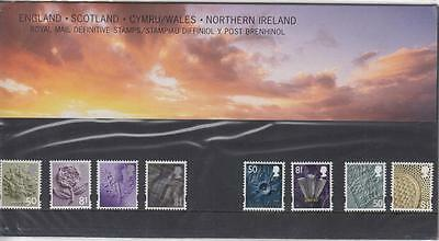 GB 2008 Combined Regional Definitives Presentation Pack 36 MNH PO FRESH
