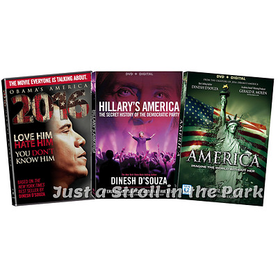 Dinesh D'Souza Complete Movies Hillary's + Obama's America + More Box/DVD Set(s)