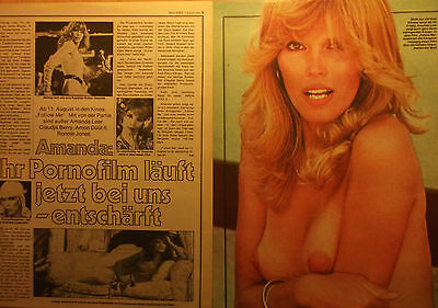 2 german clipping AMANDA LEAR SHIRTLESS SINGER DISCO 70`s GAY INT BOYS BOY BAND