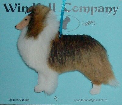 Mahogany Sable Rough Collie Lassie Dog Plush Christmas Canine Ornament # 4 by WC