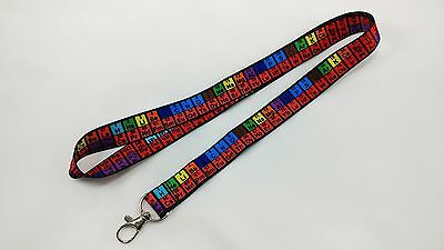 Periodic Table of Elements Lanyard/keychain, NEW, FREE SHIPPING
