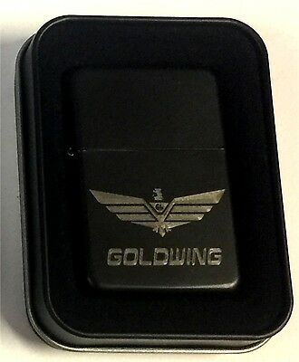 Goldwing Logo Honda Black Engraved Cigarette Gift Lighter LEN-0212