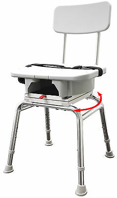 Snap-N-Save Swivel Shower Bath Chair w Replaceable Cut Out and Back 75233 NEW