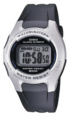 Casio W42H-1A Men's Resin Band Illuminator Alarm Chronograph LCD Digital Watch